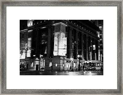 birks place originally the commerce bank hastings west Vancouver BC Canada Framed Print