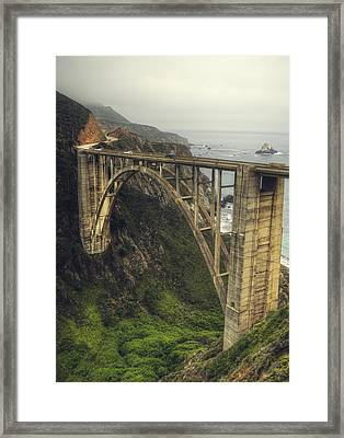 Bixby Bridge Framed Print by Kenny  Noddin