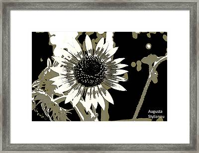 Black And White Flowers Framed Print by Augusta Stylianou