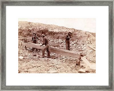 Black Hills Gold Rush, 1889 Framed Print