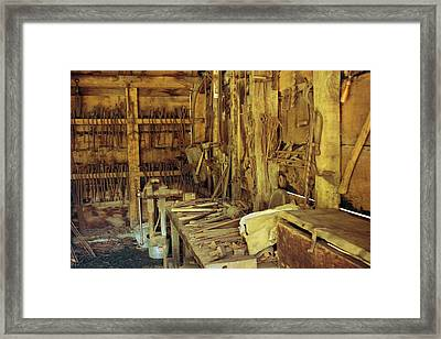 Framed Print featuring the photograph Blacksmith Shop by David Rizzo