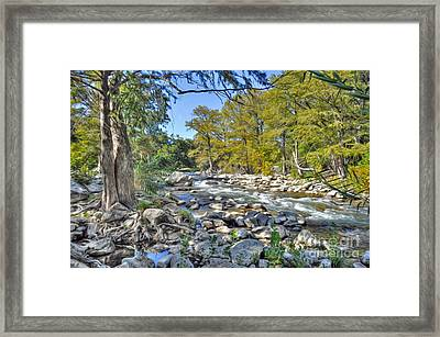 Guadalupe River Framed Print by Savannah Gibbs