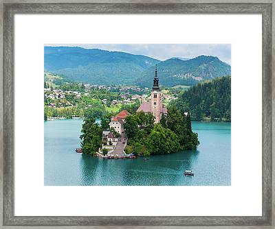 Bled, Upper Carniola, Slovenia. Church Framed Print
