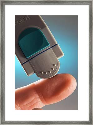 Blood Glucose Test Framed Print by Steve Horrell