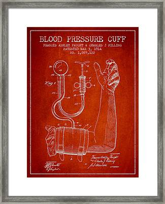 Blood Pressure Cuff Patent From 1914 Framed Print by Aged Pixel
