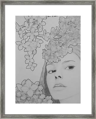 Blooming Girl Lilac  Framed Print by Aaron El-Amin