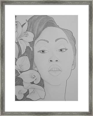 Blooming Girl Lily 2  Framed Print by Aaron El-Amin