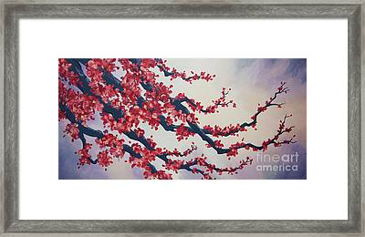 Blossoms At Dusk Framed Print