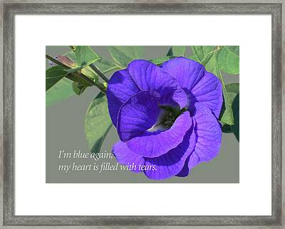 Blue Again Framed Print by James Temple