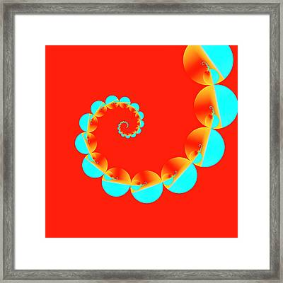 Blue And Red Pattern Framed Print