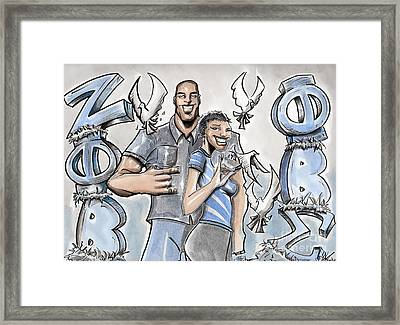 Framed Print featuring the painting 2 Blue And White 2 by Tu-Kwon Thomas