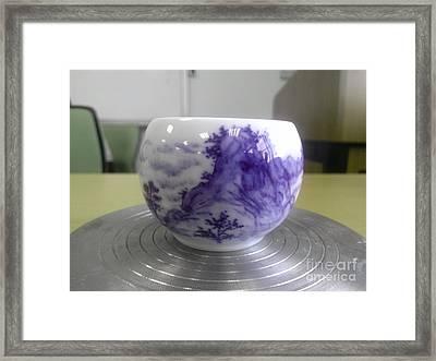 Blue And White Porcelain Framed Print