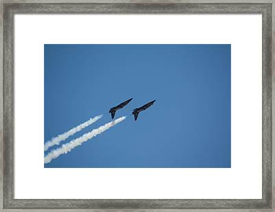 2 Blue Angles Upside Down Framed Print by Brian Williamson