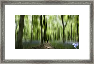 Blue Bell Art Digital Art Framed Print