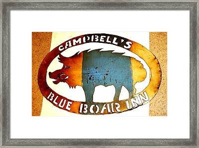 Blue Boar Inn Framed Print by Larry Campbell