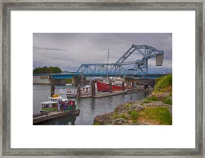 Blue Bridge Framed Print