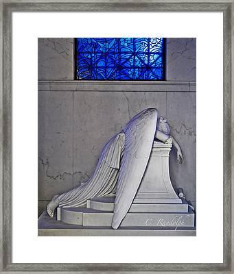 Blue Framed Print by Cheri Randolph