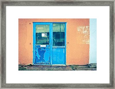 Blue Door Framed Print by Tom Gowanlock