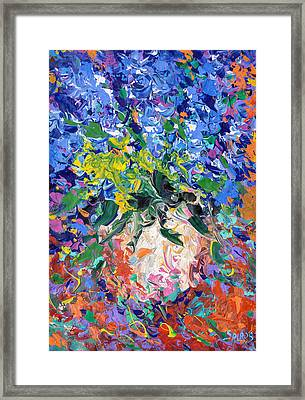 Blue Flowers Framed Print by Dmitry Spiros