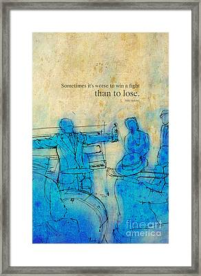 Blue Jazz - Bille Holiday Quote Framed Print