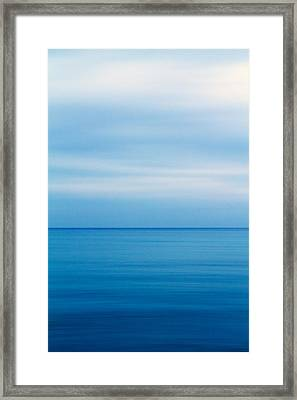 Blue Mediterranean Framed Print by Stelios Kleanthous