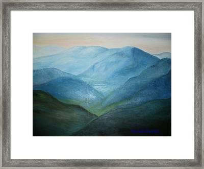 Blue Mountain Ridges Framed Print by Glenda Barrett