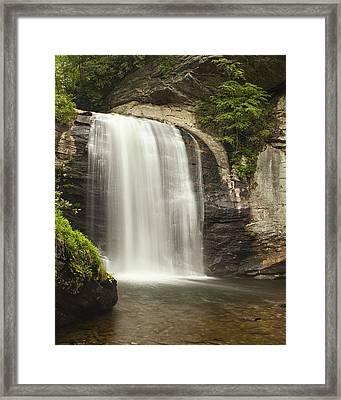 Blue Ridge Waterfall Framed Print
