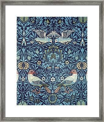 Blue Tapestry Framed Print