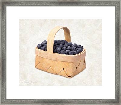 Blueberry Basket Framed Print by Danny Smythe