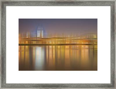 Blurred Abstract City Skyline Colorful Background Framed Print by Matthew Gibson