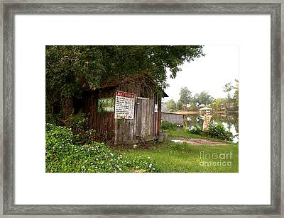 Boat Launch Outhouse Framed Print by Scott Pellegrin