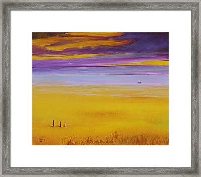 Boat Near The Sea Framed Print