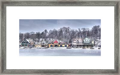 Boathouse Row Winter Framed Print by Mark Ayzenberg