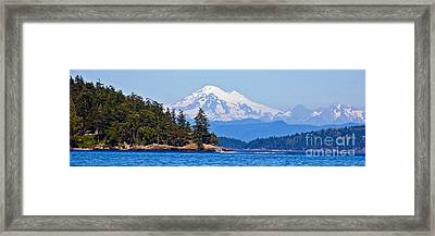 Boating On Puget Sound Framed Print by Chuck Flewelling