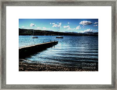 Framed Print featuring the photograph Boats In Wales by Doc Braham