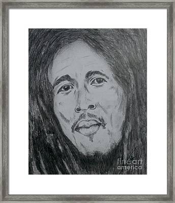 Bob Marley Framed Print by Collin A Clarke
