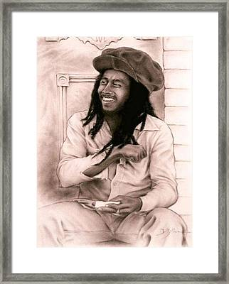 Bob Marley Framed Print by Guillaume Bruno