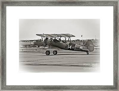 Boeing N2s-4 Stearman Kaydet Framed Print by Charles Dobbs