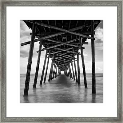 Bogue Inlet Fishing Pier #2 Framed Print