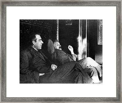 Bohr And Einstein Framed Print
