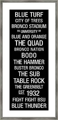 Boise State College Town Wall Art Framed Print by Replay Photos