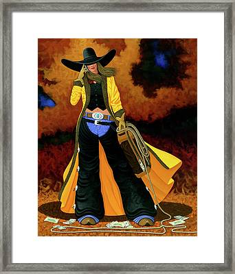 Bonnie Framed Print by Lance Headlee