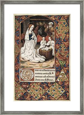 Book Of Hours For Charles V. 16th C Framed Print by Everett