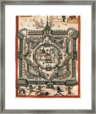 Book Of The Moghul. Ms. 8300. 17th C Framed Print by Everett