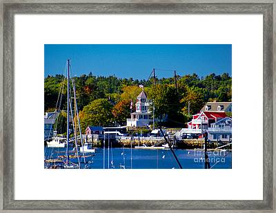 Boothbay Harbor Maine. Framed Print