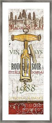 Bordeaux Blanc 1 Framed Print by Debbie DeWitt