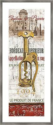 Bordeaux Blanc 2 Framed Print by Debbie DeWitt