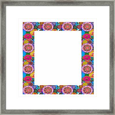 Border Frames Square Buy Any Faa Produt Or Download For Self-printing  Navin Joshi Rights Managed Im Framed Print by Navin Joshi