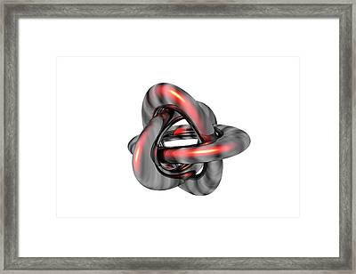 Borromean Rings Framed Print