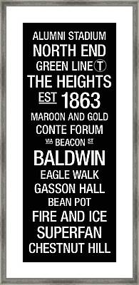 Boston College College Town Wall Art Framed Print by Replay Photos